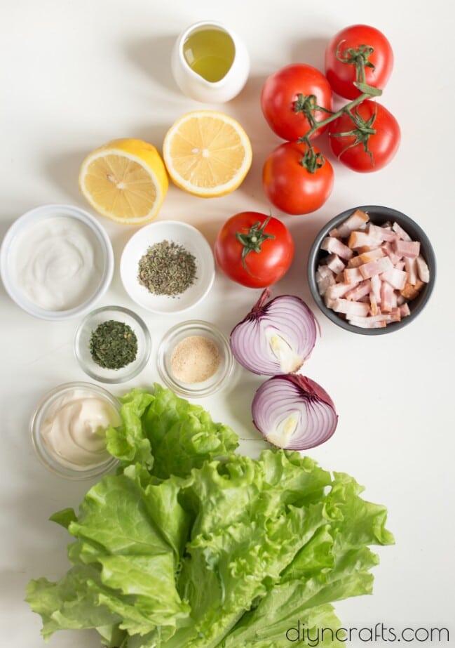 BLT salad ingredients