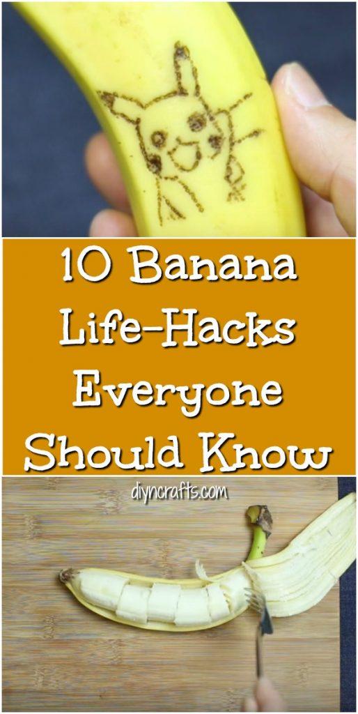 10 Banana Life-Hacks Everyone Should Know {Video}