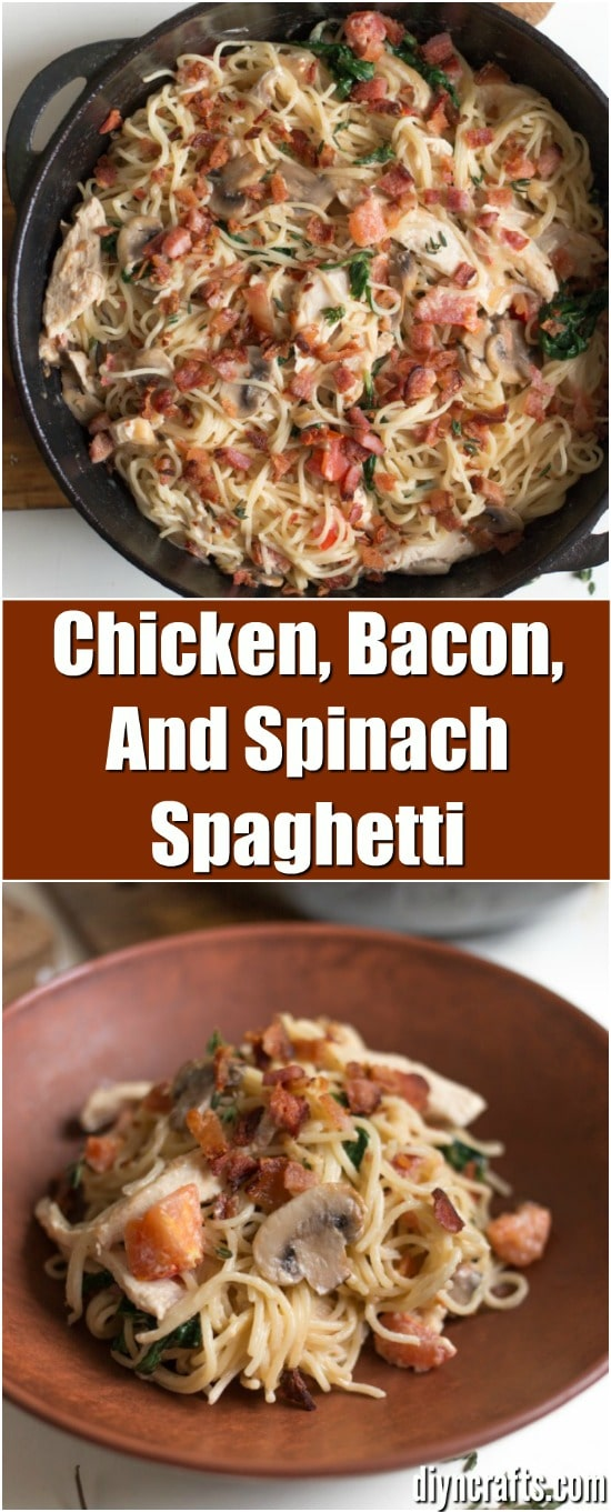 Refresh An Old Recipe With This Chicken, Bacon, And Spinach Spaghetti