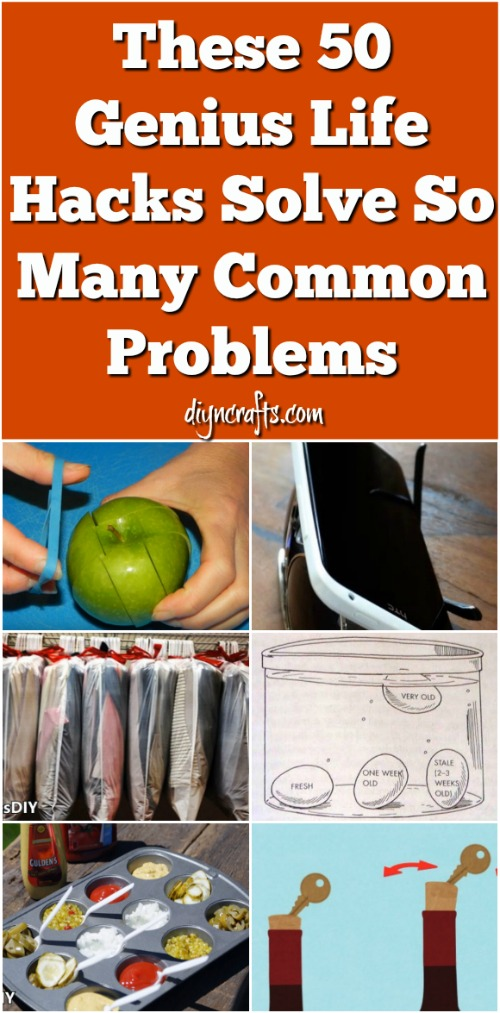 These 50 Genius Life Hacks Solve So Many Common Problems {Video}
