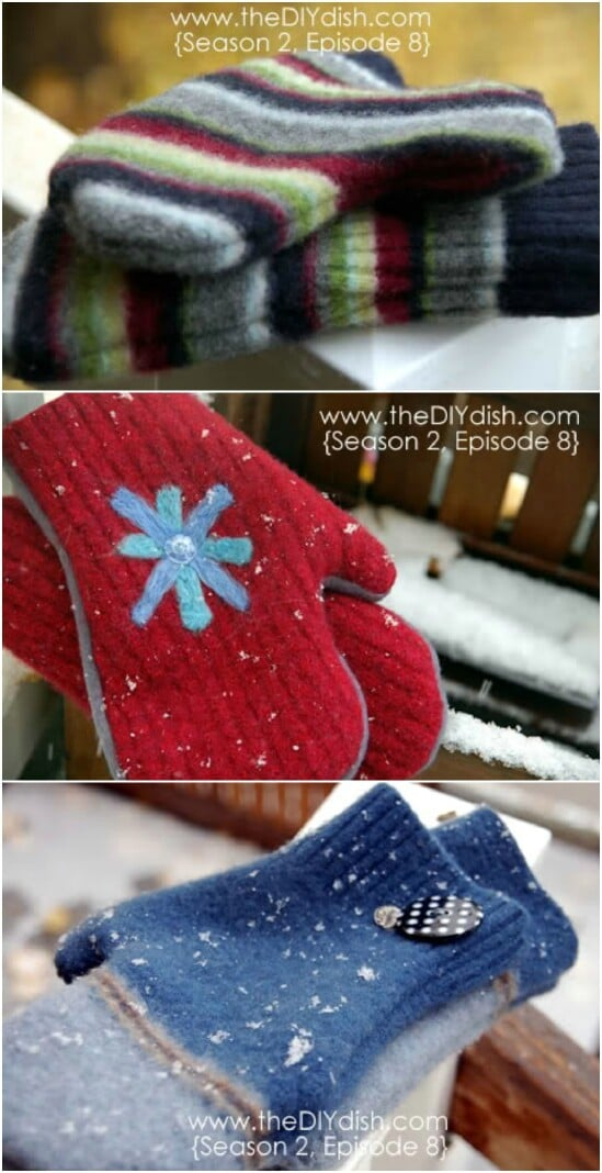 94e7d12a07f2 Sweater Into Wool Mittens - 50 Amazingly Creative Upcycling Projects For Old  Sweaters