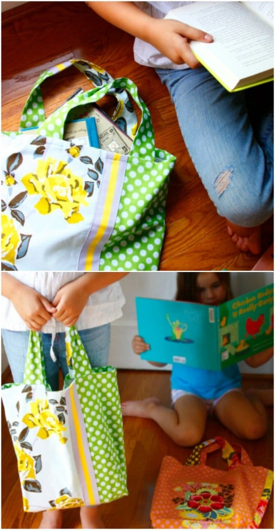 Impressive DIY Dish Towel Tote Bag