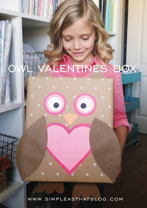 Owl Valentine Box - 20 Adorable And Easy DIY Valentine's Day Projects For Kids
