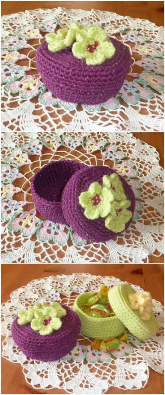 Handmade Crochet Trinket Boxes