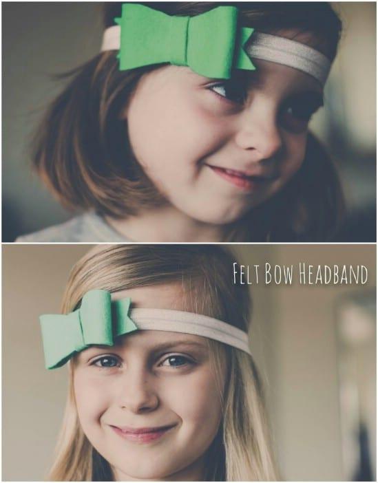 DIY Green Felt Headband