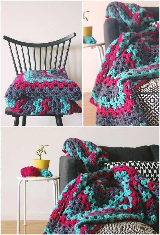 Giant Granny Square Throw