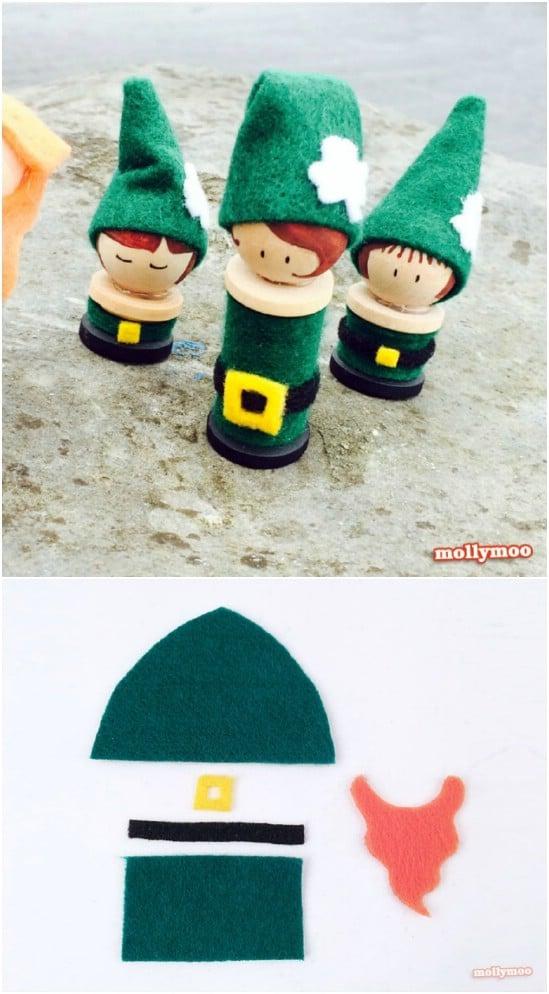 Little Leprechaun Peg Dolls