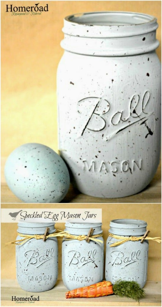 Speckled Egg Painted Jars