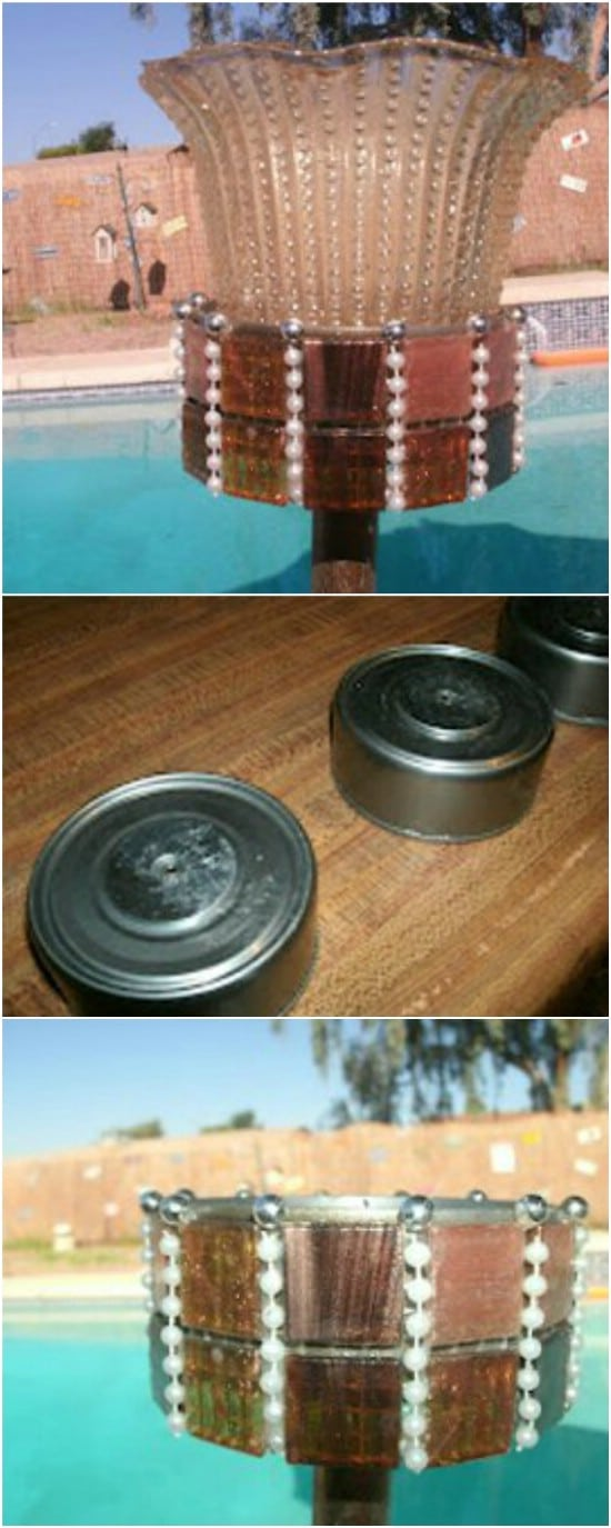Tuna Can Party Lights - 20 Frugally Genius Ways To Upcycle Empty Tuna Cans