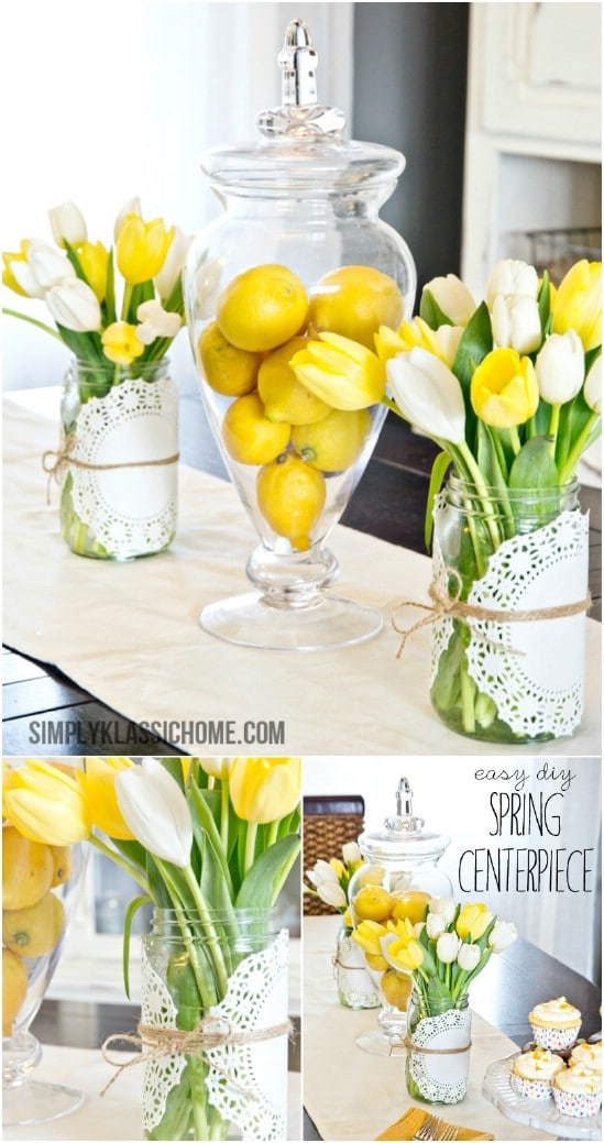 Easy Mason Jar Spring Centerpiece
