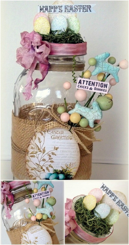 DIY Easter Mantel Decoration