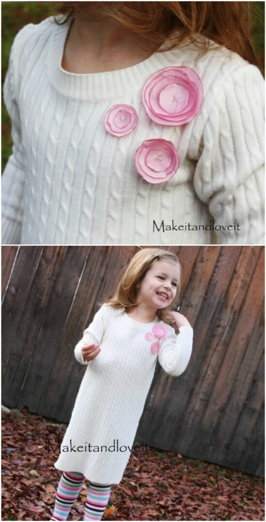 Sweater Dress - 50 Amazingly Creative Upcycling Projects For Old Sweaters