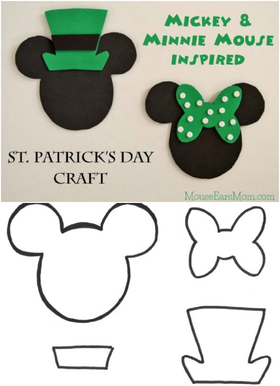 Mickey and Minnie Inspired St. Patrick's Day Craft