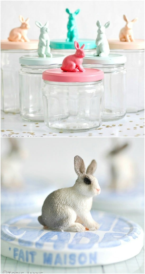 Bunny Jar Toppers