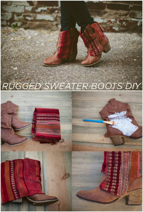 Sweater Boot Embellishments - 50 Amazingly Creative Upcycling Projects For Old Sweaters