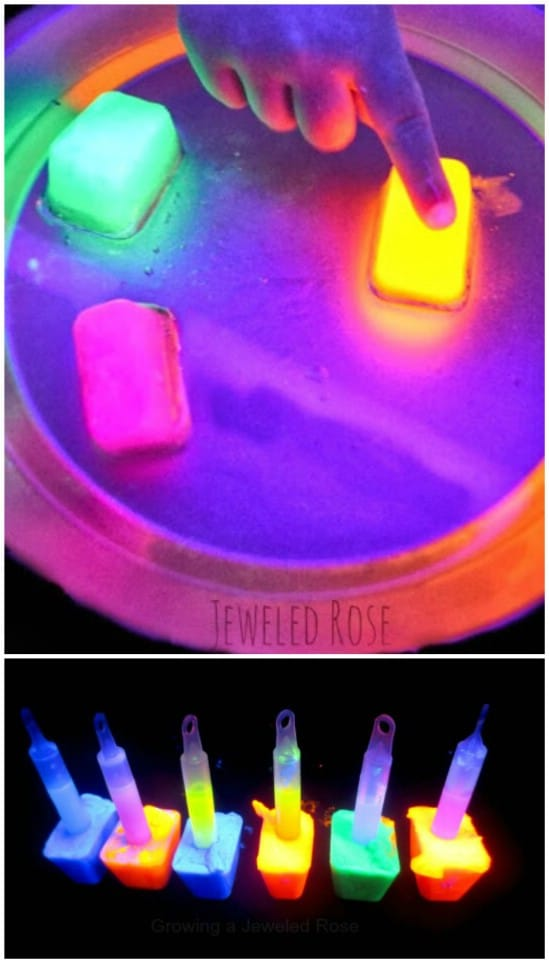 Amazing Glowing Science Project - 25 Amazingly Fun Glow In The Dark DIY Projects For Kids