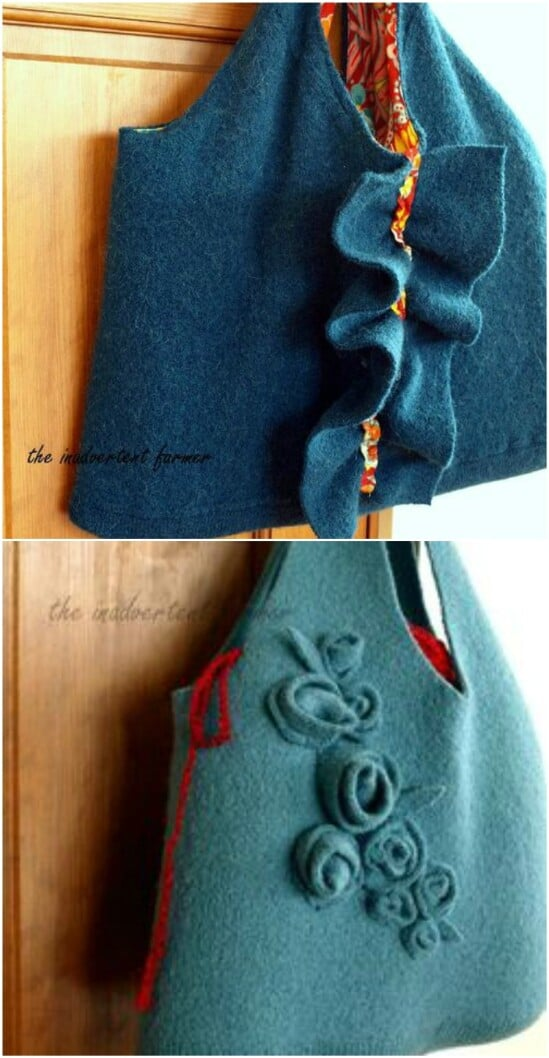 Sweater Laptop Or Diaper Bag - 50 Amazingly Creative Upcycling Projects For Old Sweaters