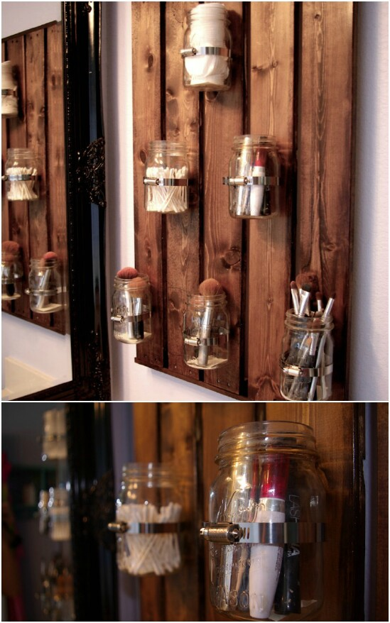 30 Mind Blowing Diy Mason Jar Organizers You Ll Want To Make Right Away Diy Crafts
