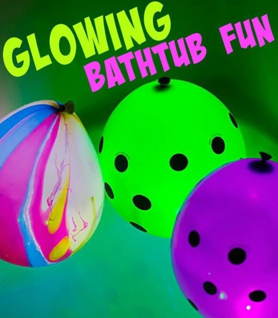 Glow In The Dark Bathtub Fun - 25 Amazingly Fun Glow In The Dark DIY Projects For Kids