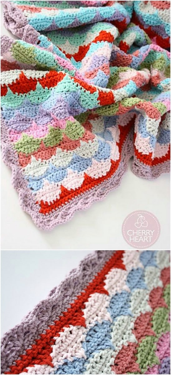 28 Quick And Easy Crochet Blanket Patterns For Beginners - DIY & Crafts