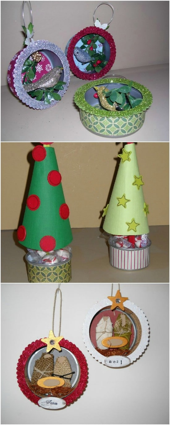DIY Nativity Ornaments - 20 Frugally Genius Ways To Upcycle Empty Tuna Cans