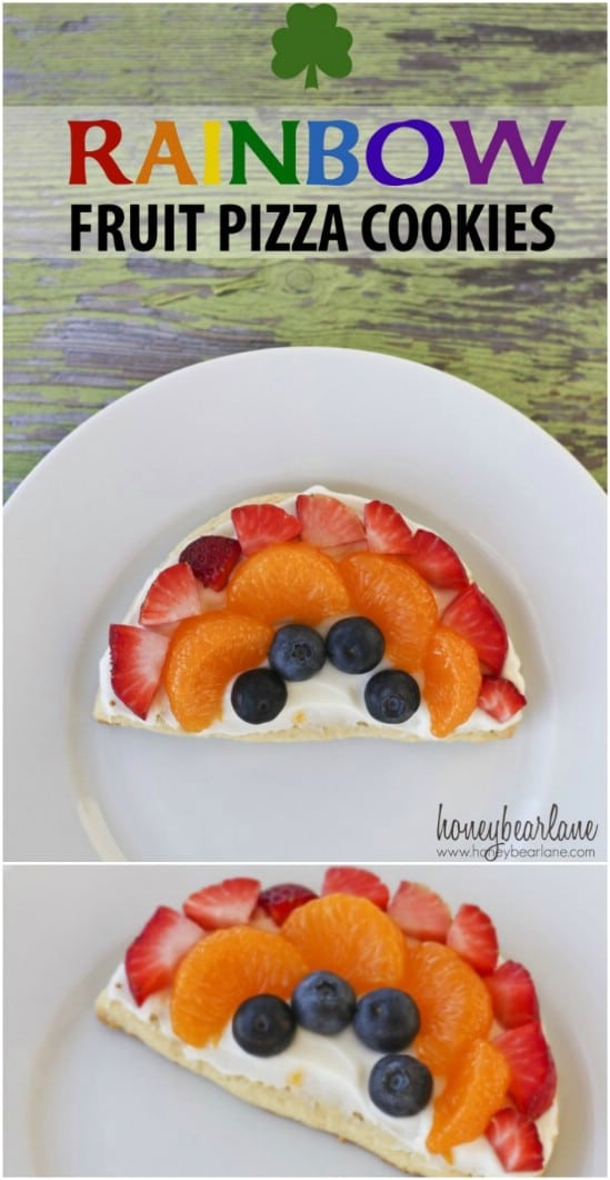 Rainbow Fruit Pizza Cookies