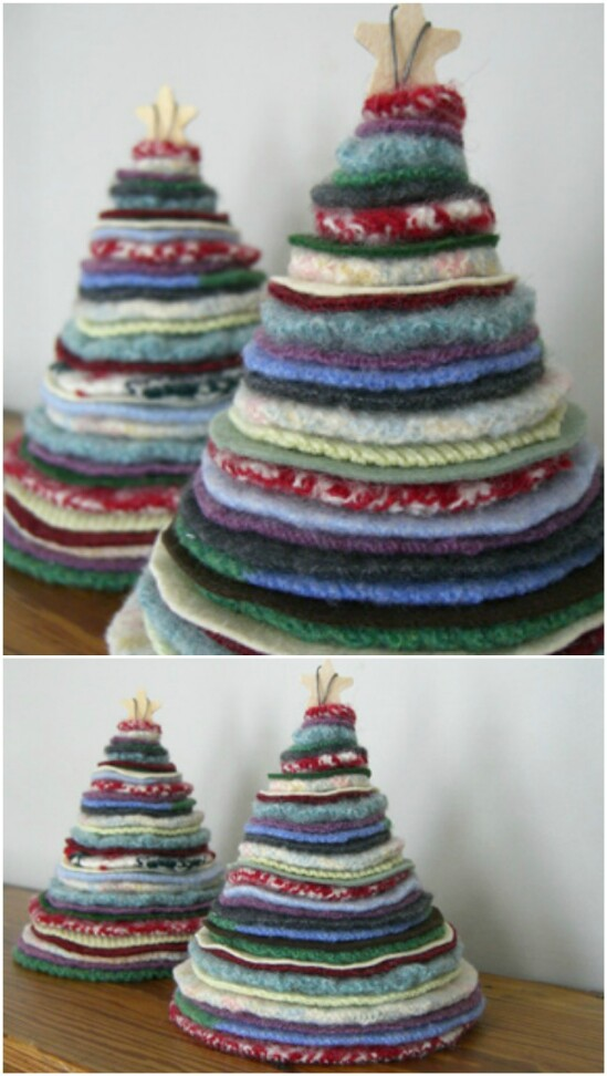 Sweater Christmas Tree - 50 Amazingly Creative Upcycling Projects For Old Sweaters