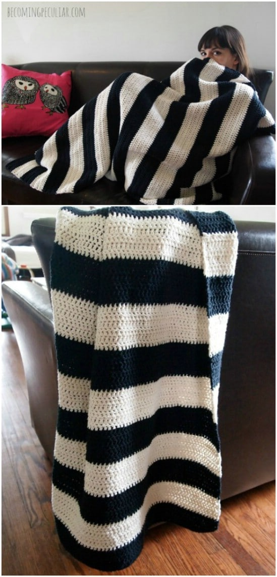 Easy Black And White Throw