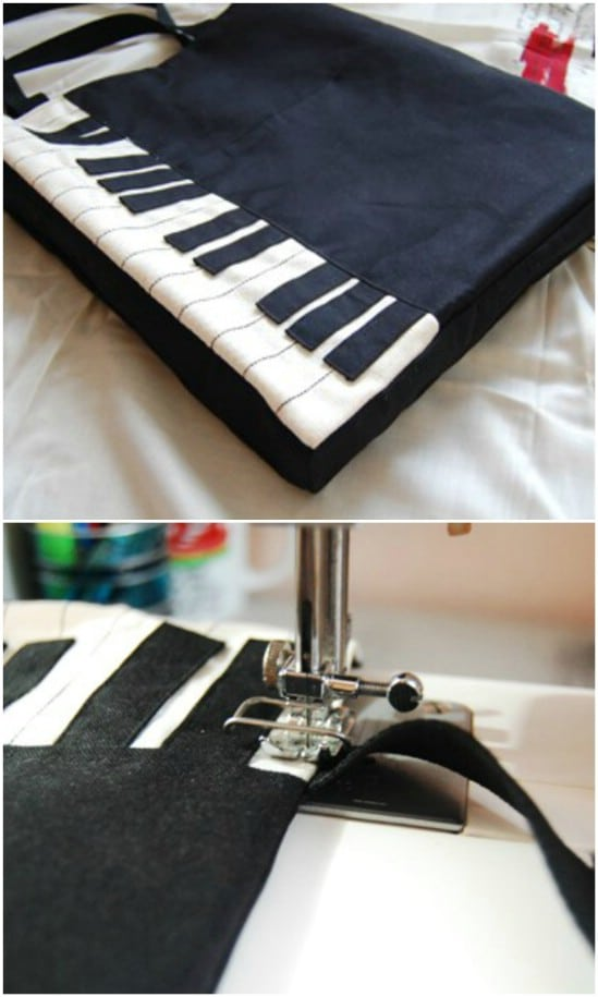 Piano Inspired Tote