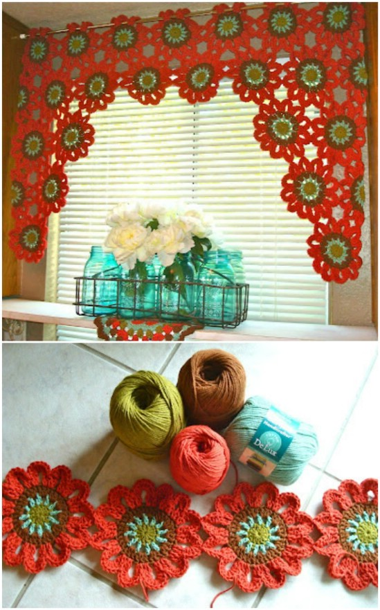 Easy DIY Crocheted Valance