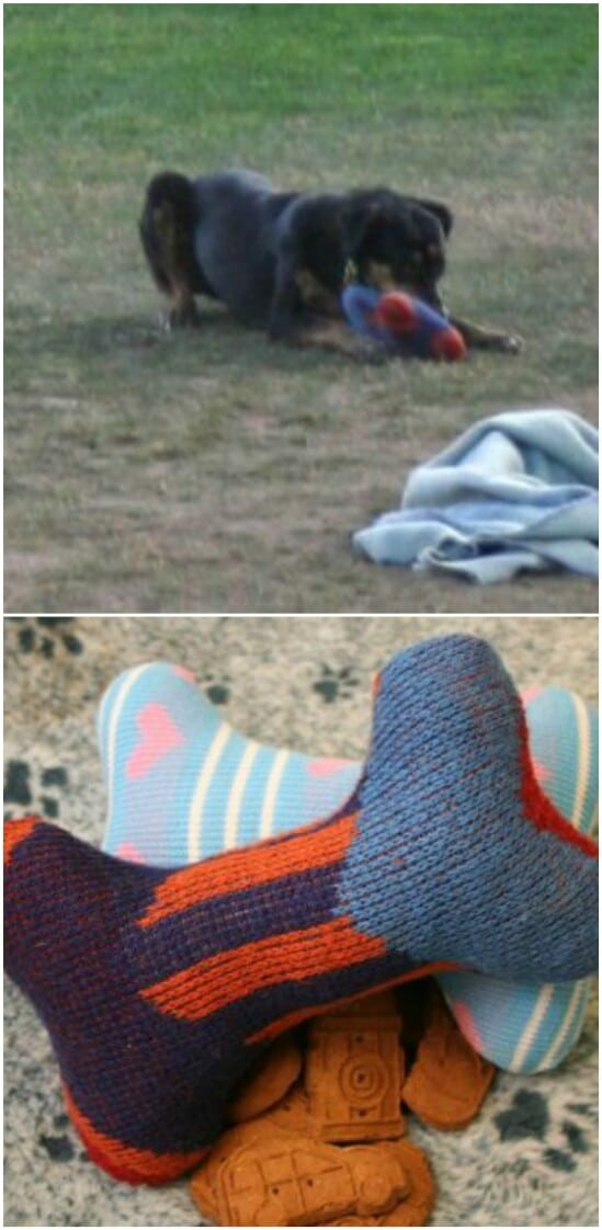 DIY Dog Toy From Old Sweater - 50 Amazingly Creative Upcycling Projects For Old Sweaters