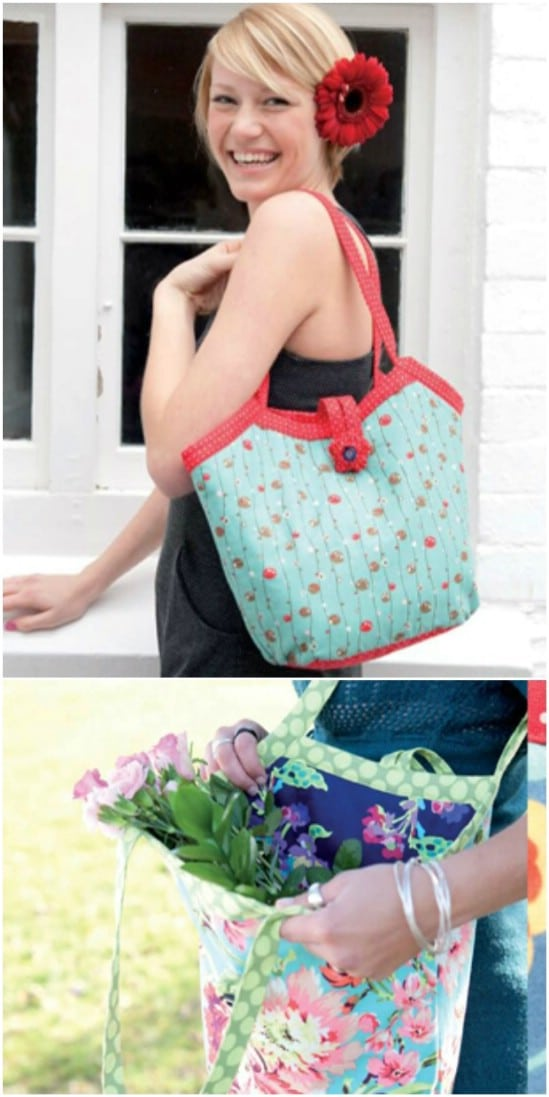 Reversible Bucket Style Tote