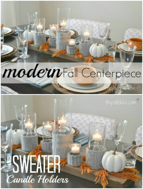 Sweater Candle Holders - 50 Amazingly Creative Upcycling Projects For Old Sweaters