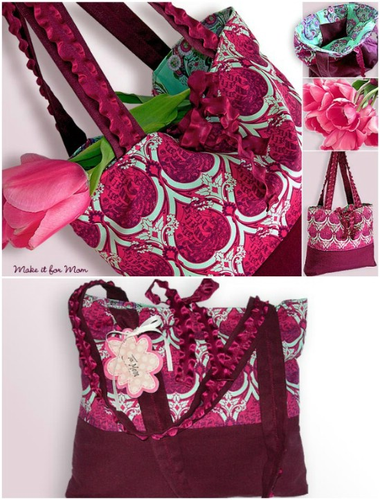 Market Tote With Ruffles, Ribbons, and Ties
