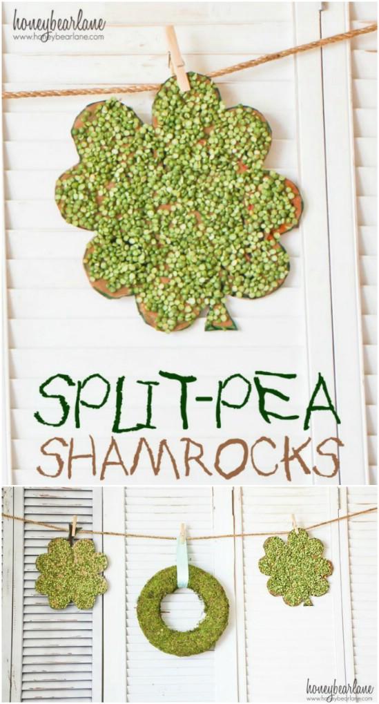 Split Pea Shamrocks