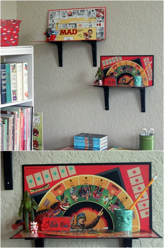 DIY Board Game Shelves