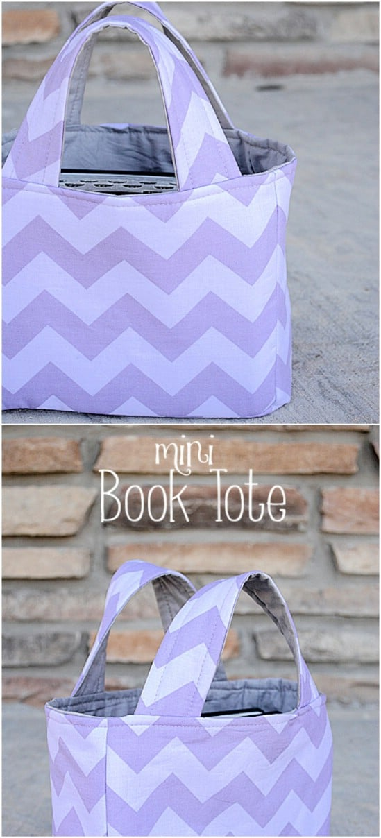 DIY Mini Book Tote