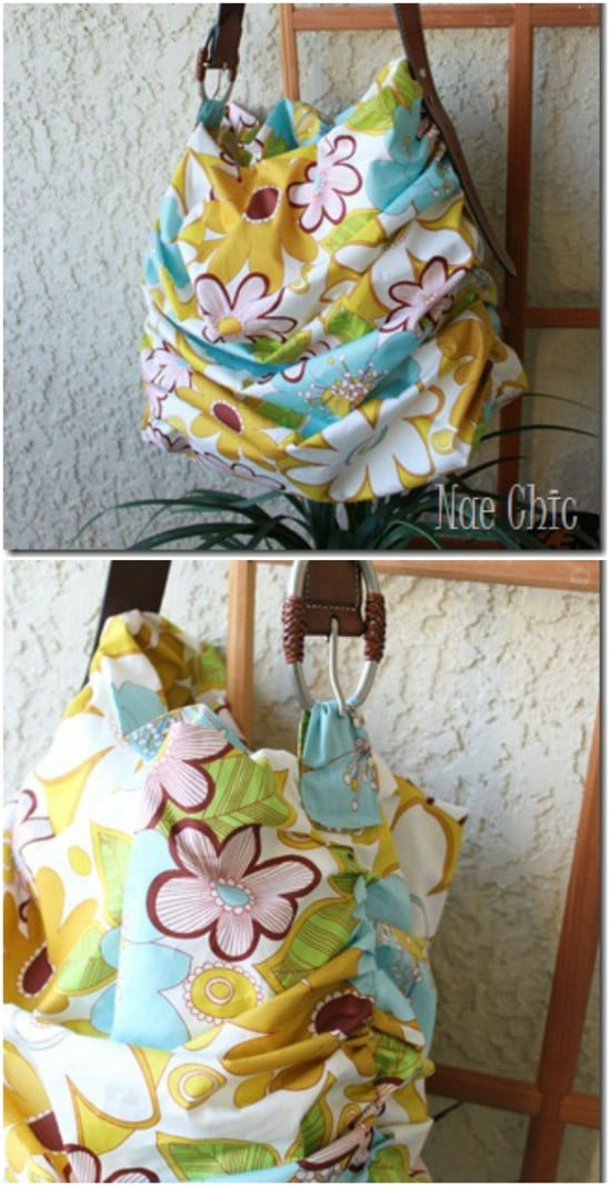 DIY Scrunch Tote – Made With Fabric Scraps