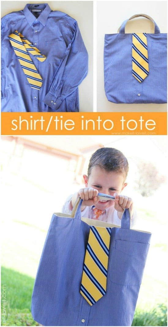Shirt And Tie Tote Bag