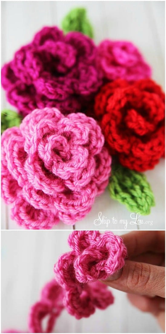 DIY Crocheted Roses