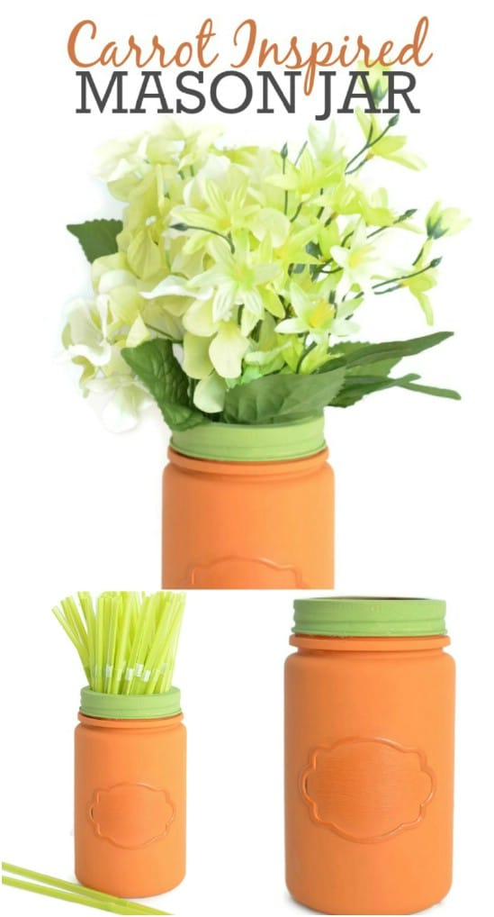 Carrot Inspired Mason Jar Décor