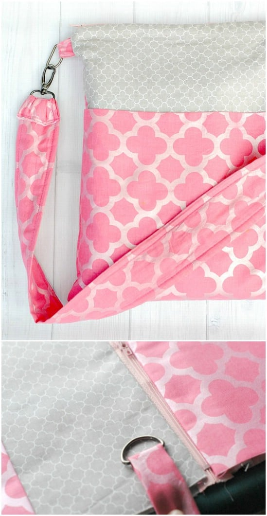 Cute Zippered Tote Bag