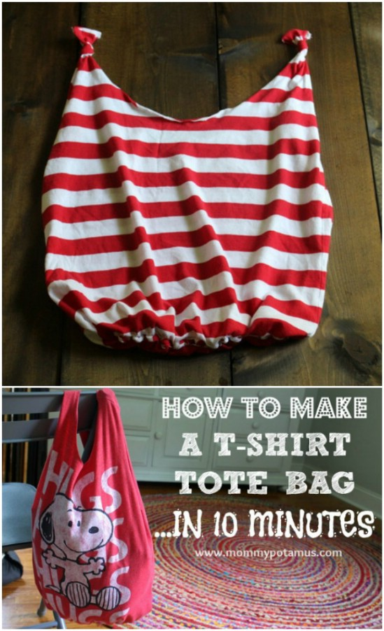 No Sew T-Shirt Tote Bag