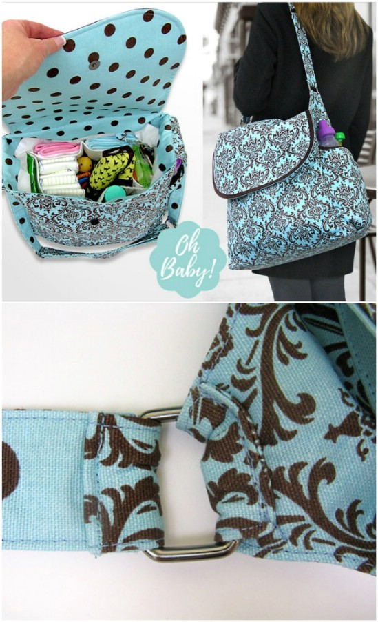 Big Diaper Bag Styled Tote
