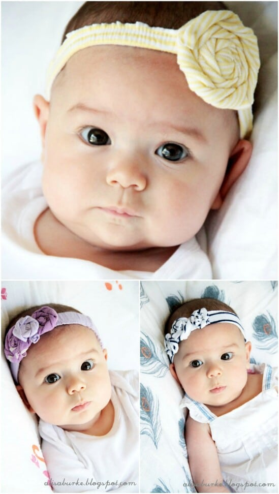 Upcycled Baby Clothing Headbands - 20 Adorably Creative Upcycling Projects To Repurpose Old Baby Clothes