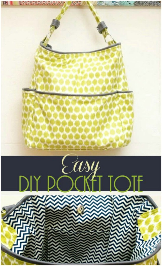Easy Diy Pocket Tote