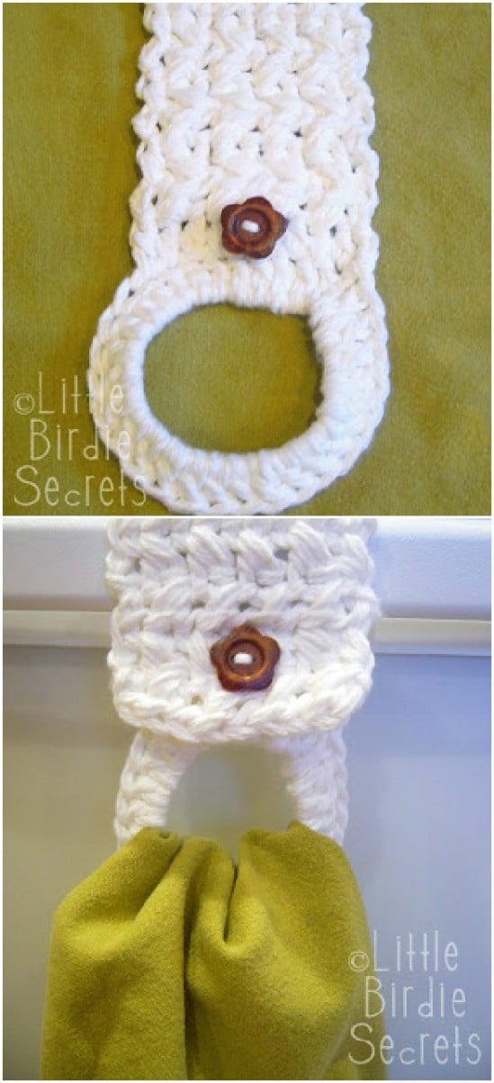 Crocheted Towel Holder