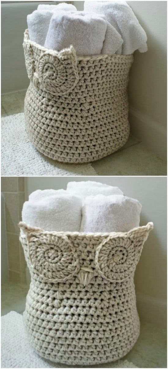 Easy Owl Basket