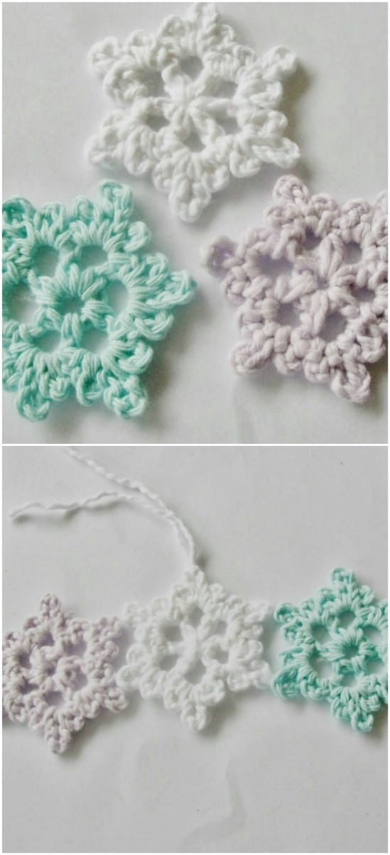 Crocheted Snowflake Pattern