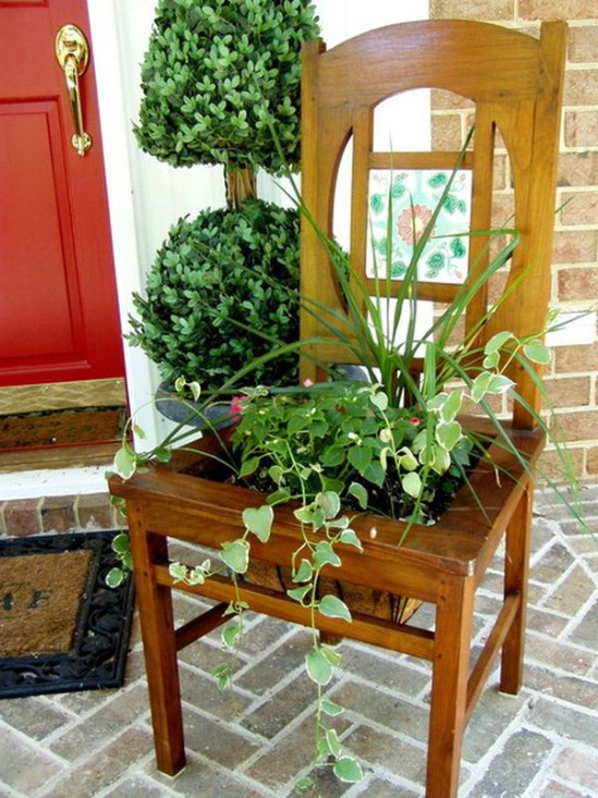 Chair Hosta Planter
